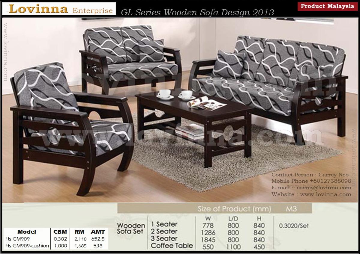 Lovinna Product Malaysia Wooden Sofa