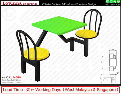 canteen tables and chairs