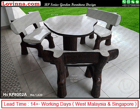 Lovinna Stone Garden Furniture, Outdoor Stone Table And Chairs Singapore