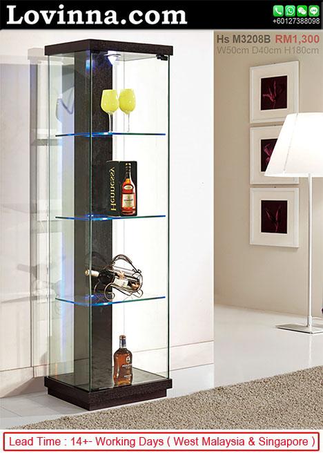 Lovinna Display Cabinet, Glass Display Cabinet Malaysia