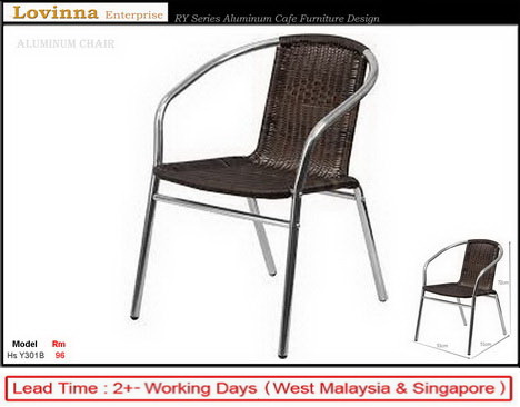 PE Rattan Aluminum Chair
