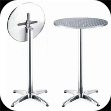 Aluminum Table,High Round Table, Cocktail Table, Folding Table