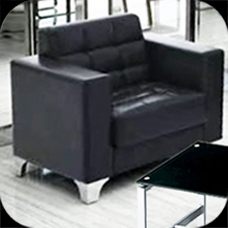 Pu office sofa