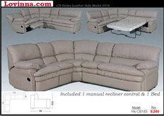 Lovinna Leather Sofa
