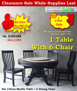 Dining Set for round Marble
