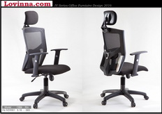 black mesh desk chair