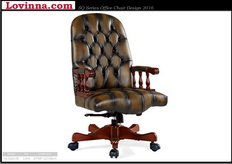 classical leather office chair