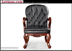 aged leather armchair